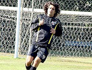 Fernandão, atacante São Paulo em treino