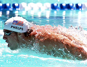 Michael Phelps eliminatórias 400m medley do Pan Pacífico