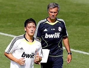 Ozil e Mourinho, treino Real Madrid