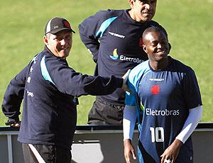 PC Gusmão e Zé Roberto no treino do Vasco