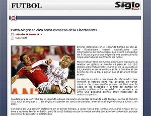 Site Mexicano destaca boa atuação do Chivas na final Libertadores 2