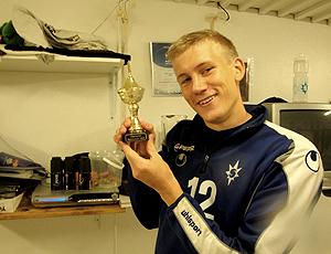 Jóhann Laxdal, com troféu do