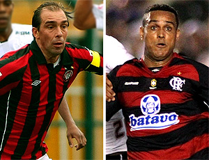 montagem Paulo Baier Atlético-PR Val Baiano Flamengo