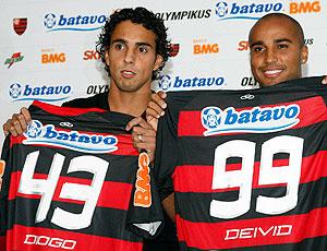 Deivid e Diogo são apresentados no Flamengo