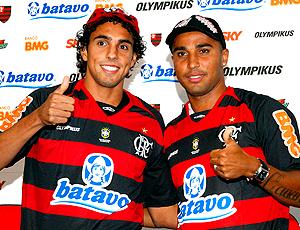 Diogo e Deivid, apresentação no Flamengo