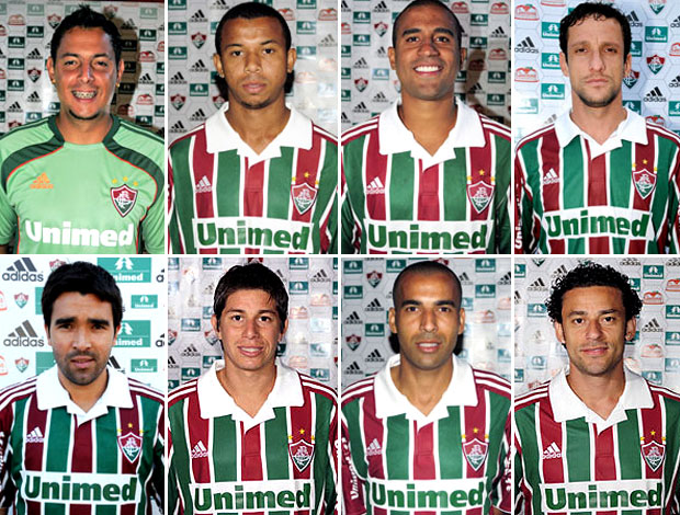 montagem jogadores Fluminense
