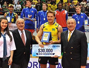 Murilo foi eleito o melhor jogador de vôlei no torneio na Polônia