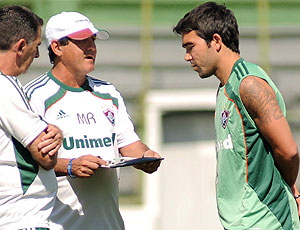 Deco e Muricy Ramalho no treino do Fluminense