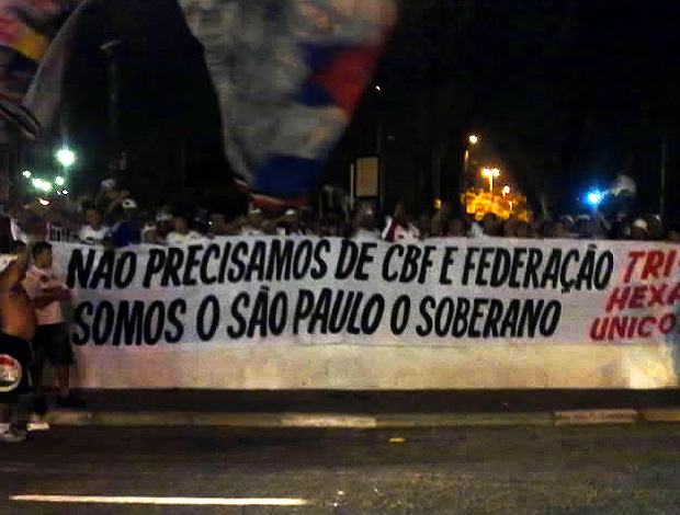 Protesto da Torcida do São Paulo