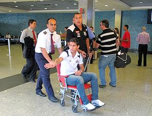 Paulo Henrique Ganso, cadeira de rodas em São Paulo