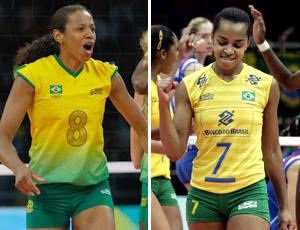 Montagem Valeskinha fofão seleção brasileira vôlei feminino