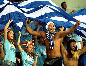 torcida da Grécia no Mundial de basquete na Turquia