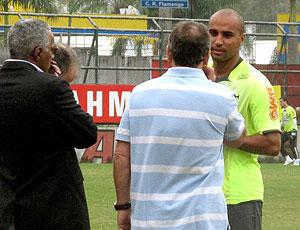 Deivid no treino do Flamengo