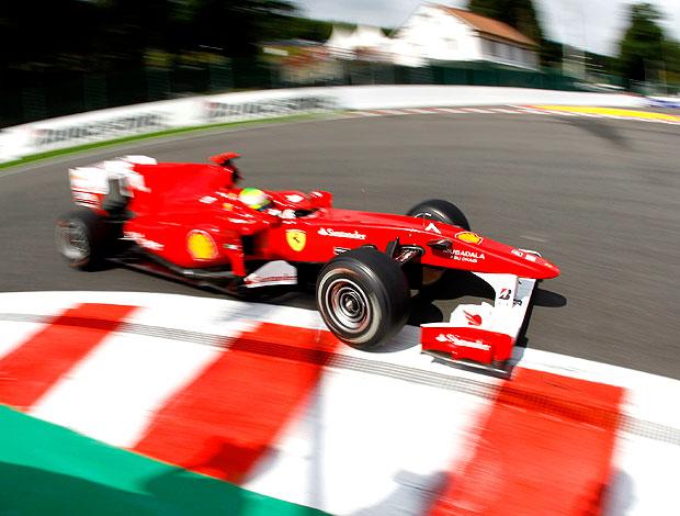 Massa no treino do GP da Bélgica