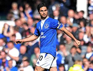 Mikel Arteta no Everton