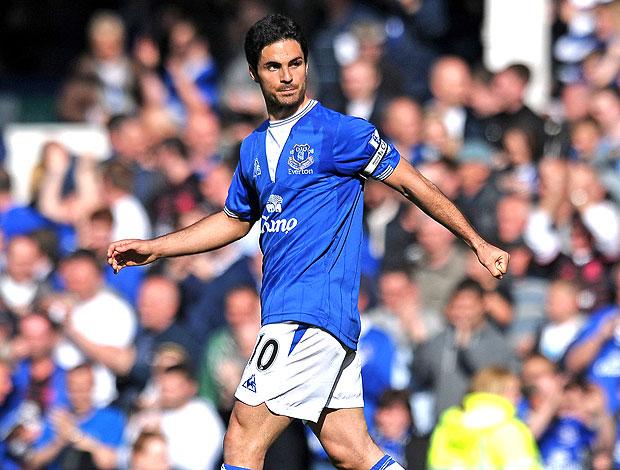 Mikel Arteta no Everton  (Foto: AFP)