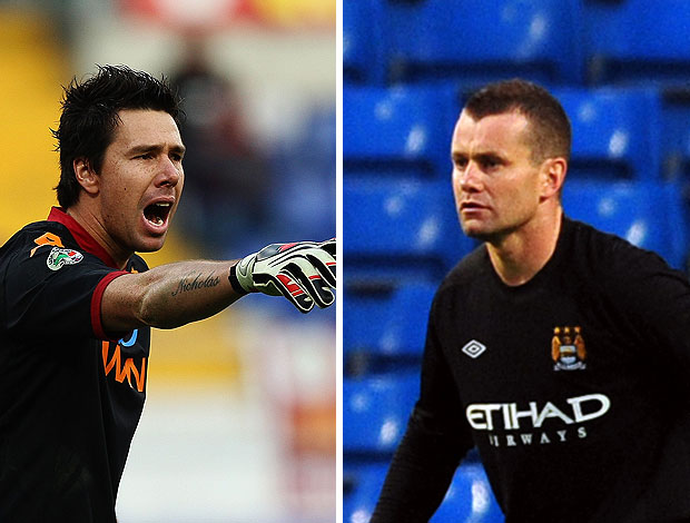 montagem Doni Roma Shay Given Manchester City
