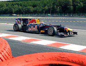 Mark Webber no treino do GP da Bélgica