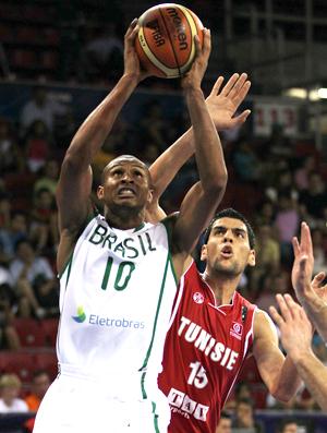 Leandrinho Brasil x Tunísia Mundial de Basquete