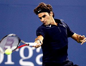 Federer na partida do US Open contra Brian Dabul