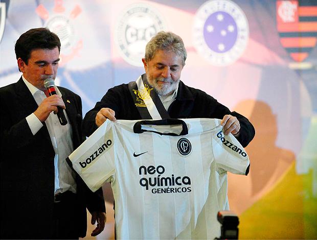 Andres Sanches e Lula camisa. Corinthians