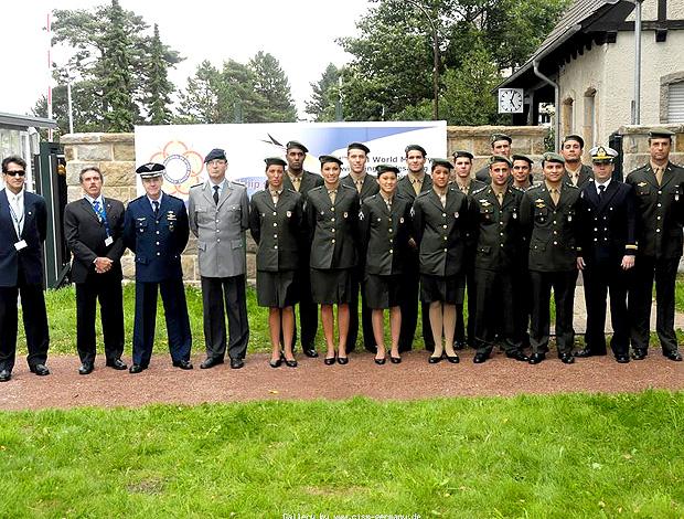 Delegação brasileira mundial militar natação
