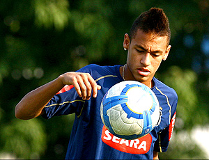 neymar santos treino