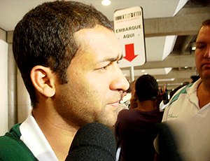 Pierre, no desembarque do Palmeiras