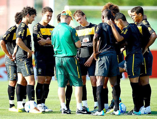 Jogadores da Seleção. Brasil treino em Barcelona