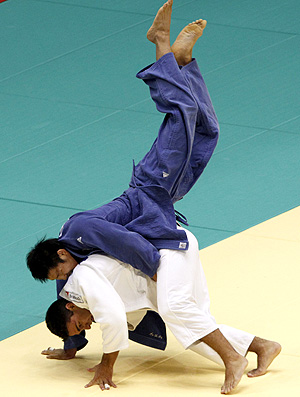 Leandro Guilheiro na final do Mundial de judô