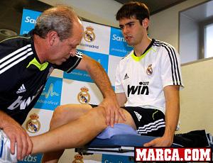 Kaká fazendo exames no Real Madrid