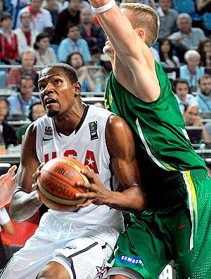Kevin Durant no jogo dos EUA no Mundial de basquete