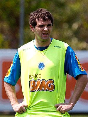 Montillo no treino do Cruzeiro