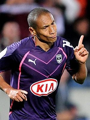 Jussie comemora gol do Bordeaux (Foto: AFP)