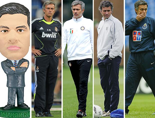 MONTAGEM - José Mourinho treinador real madrid internazionale chelsea porto boneco