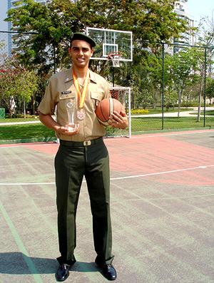 basquete Jefferson, ala-pivô do Flamengo, sargento do exército