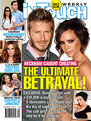 Beckham capa revista traição