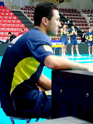 vôlei  Marlon brasil treino