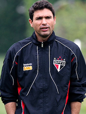Sérgio Baresi no treino do São Paulo