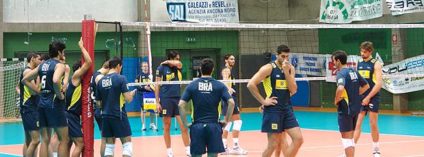 Treino vôlei Brasil Ancona