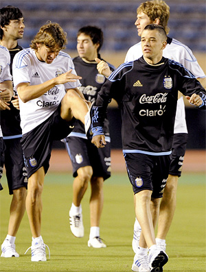d'alessandro no treino da argentina