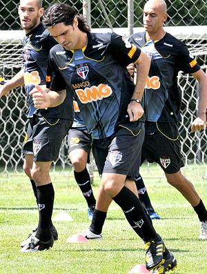 Fernandão no treino do São Paulo