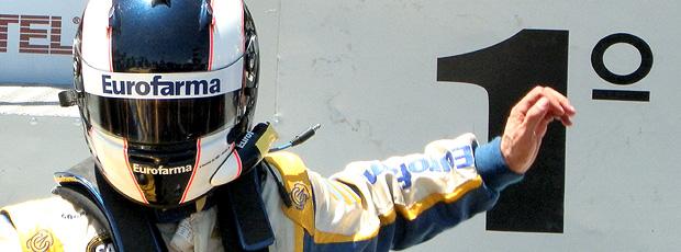 Stock Car: Max Wilson comemora a vitória em Londrina (Foto: Juliano Martins)