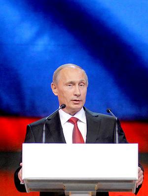 Vladimir Putin, primeiro-ministro da rússia