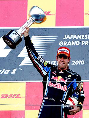 sebastian Vettel RBR do gp do japão suzuka (Foto: agência Reuters)