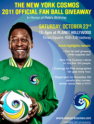 Pelé Birthday Event in Times Square