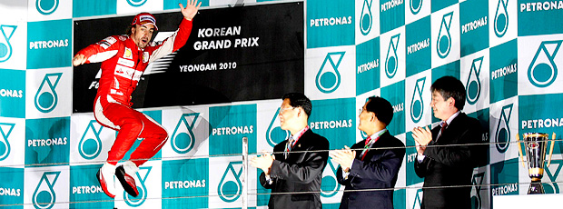 pódio fernando alonso gp da coreia do sul Yeongam