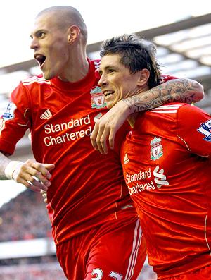 Fernando Torres comemora - Liverpool  2 - 1 Blackburn