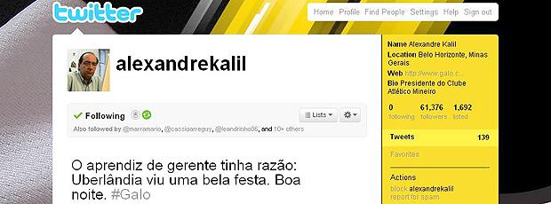 Twitter Alexandre Kalil