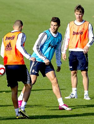 Treino do Real Madrid - Cristiano Ronaldo , Benzema e Canales